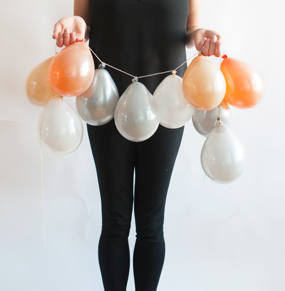 Image of Peachy Boho - Mini Balloon Garland