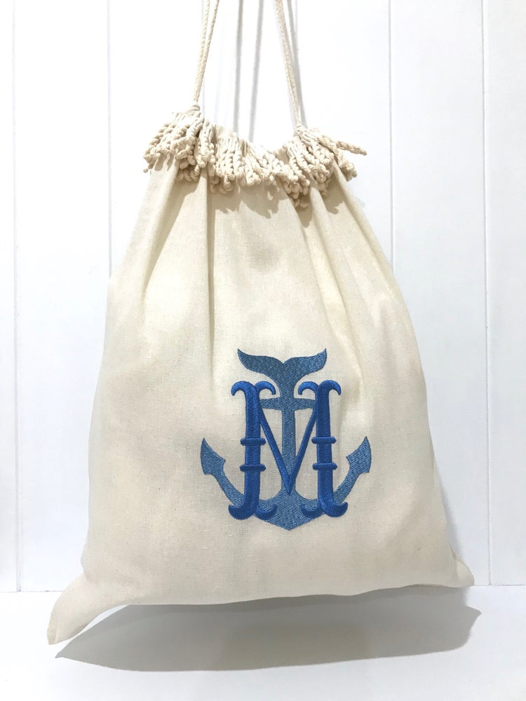Image of Hamptons Beach Drawstring Bag - Monogrammed