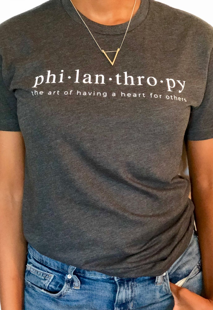 Image of Redefine Philanthropy Tee - Charcoal Crew