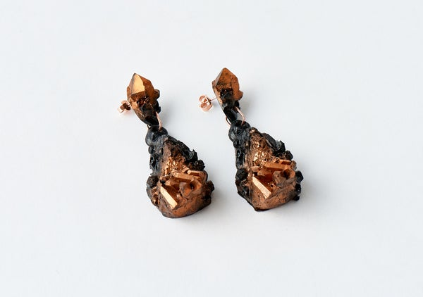 Image of CHRYSALIS DROP EARRINGS - Black Dawn