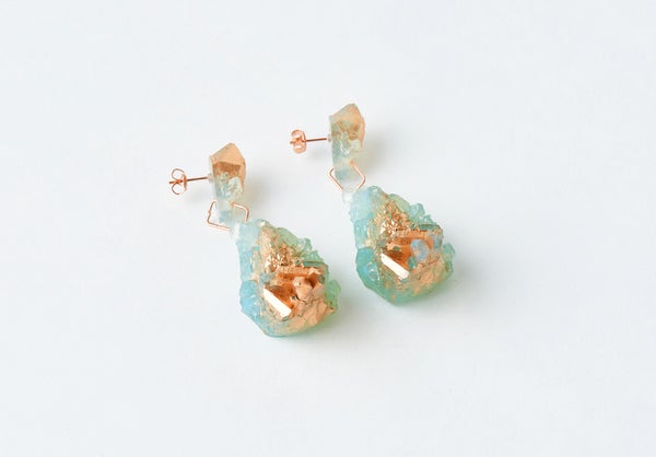 Image of CHRYSALIS DROP EARRINGS - The Blue of Distance
