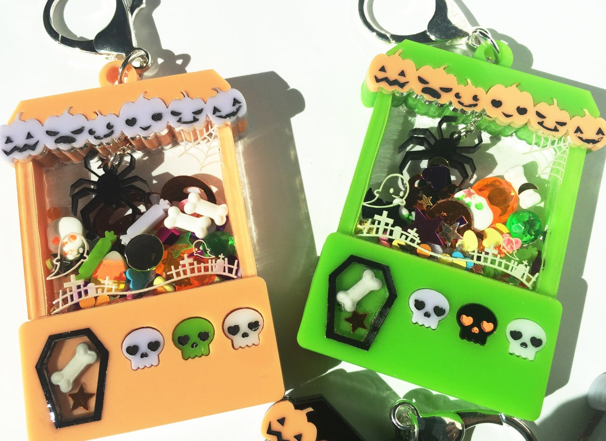 Image of Spooky Cute Halloween Crane Game charm Green