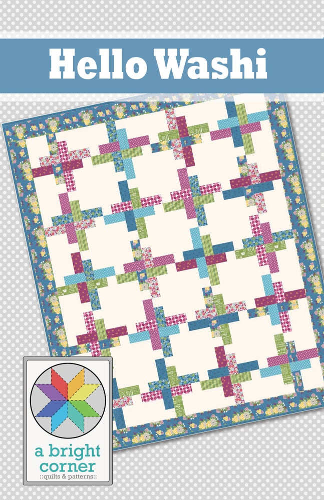 Image of Hello Washi Quilt Pattern - PAPER pattern