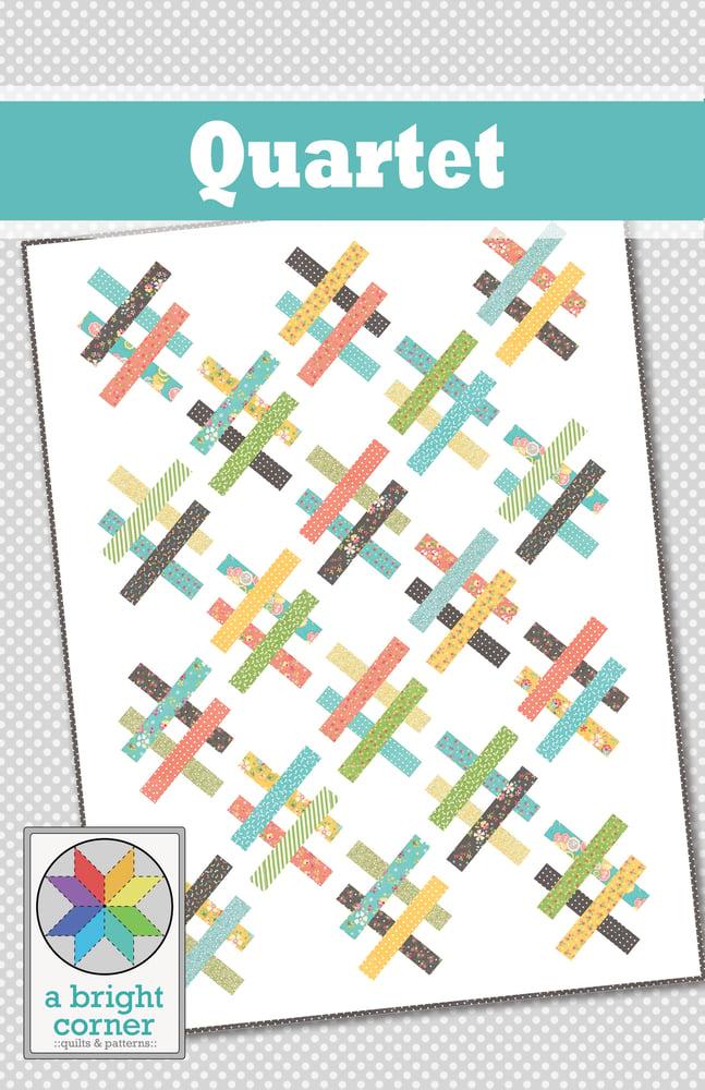Image of Quartet quilt pattern - PAPER pattern