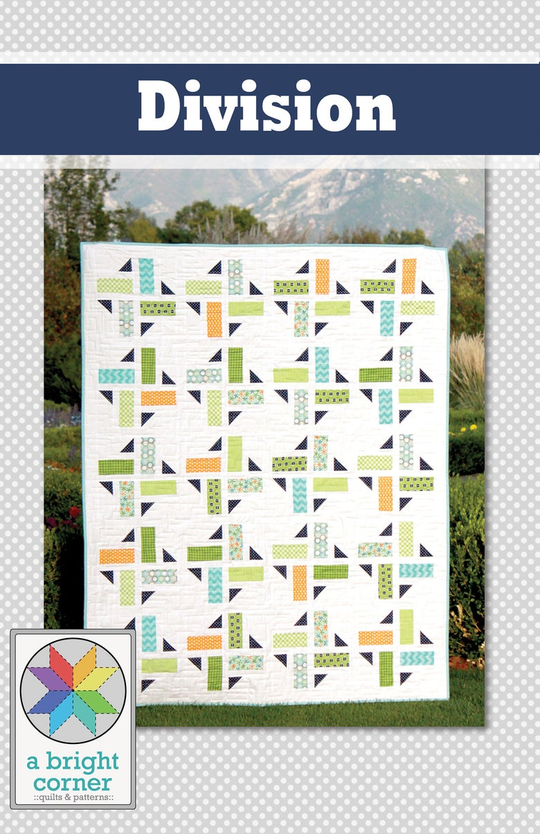 Image of Division Quilt Pattern - PAPER pattern
