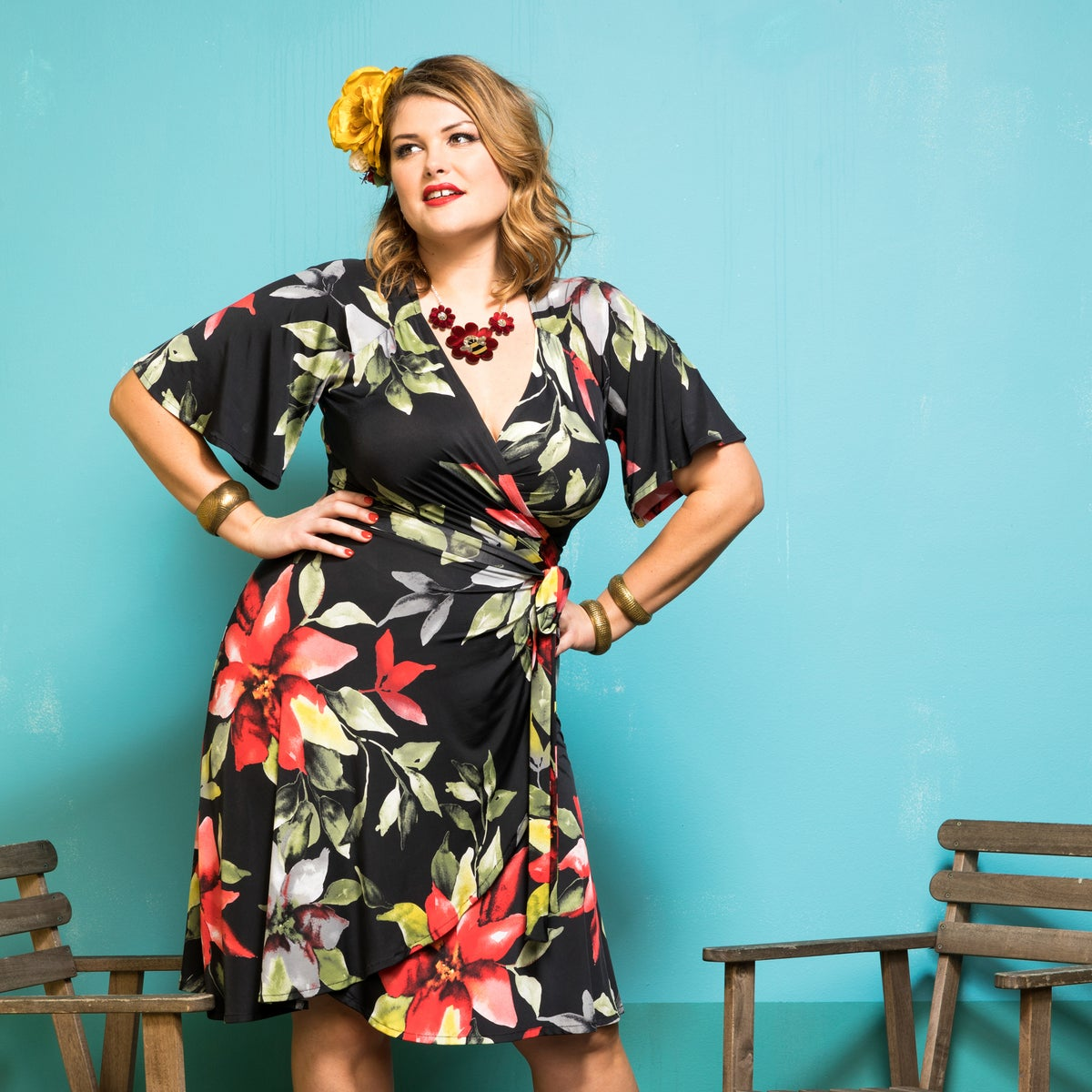 Image of ROSITA WRAP DRESS (other options available)