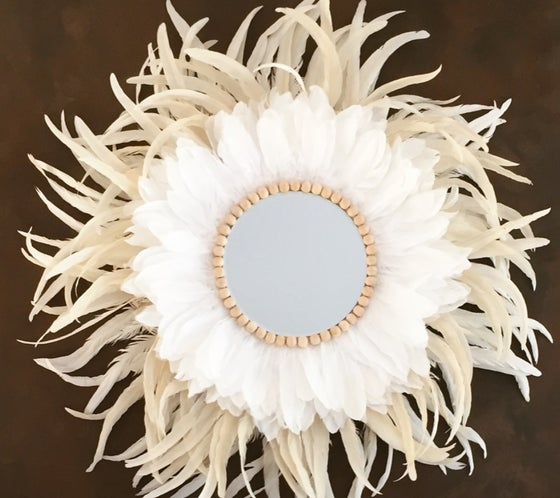Image of Juju Mirror - White/Sand