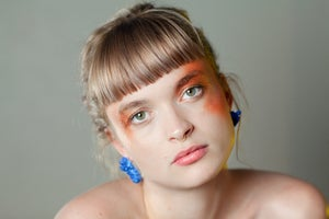 Image of CELESTIAL STUD EARRINGS - Electric Blue (Opaque)