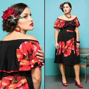 Image of RUMBA RUFFLE DRESS
