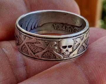 Image of Skull & Crossbones Coin Ring