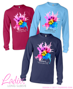 Image of Watercolor Ladies Long Sleeve S-XL