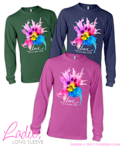 Image of Watercolor Ladies Long Sleeve 2XL-3XL