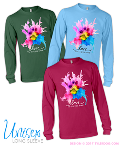 Image of Watercolor Unisex Long Sleeve Tee 2XL-5XL
