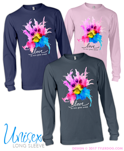 Image of Watercolor Unisex Long Sleeve Tee S-XL