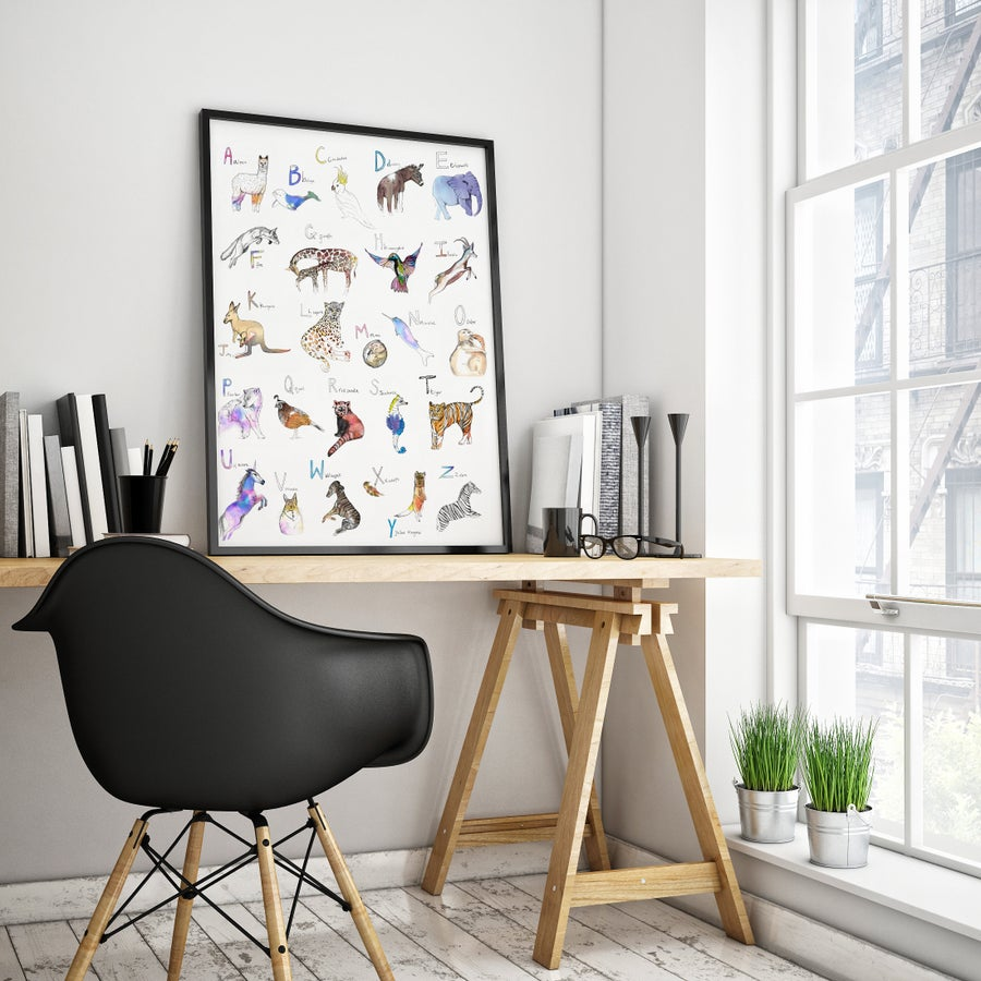 Image of ANIMAL ABC ART PRINTS