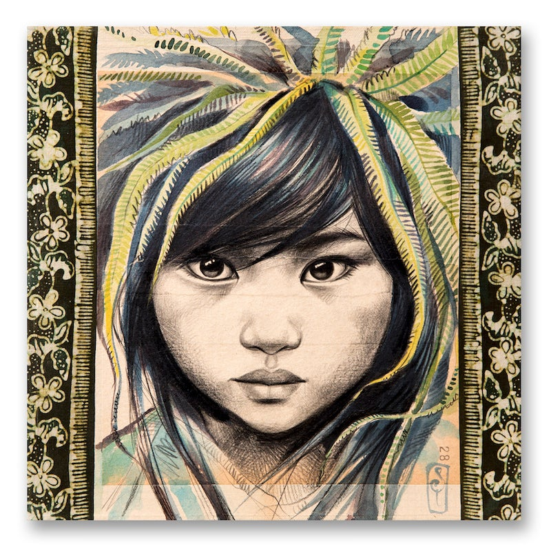 """Image of Paper art print """"La couronne de fougères"""""""