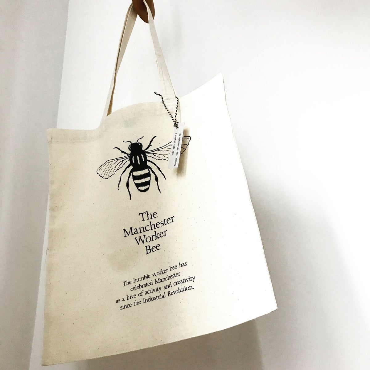 Image of Manchester Worker Bee Cotton Bag