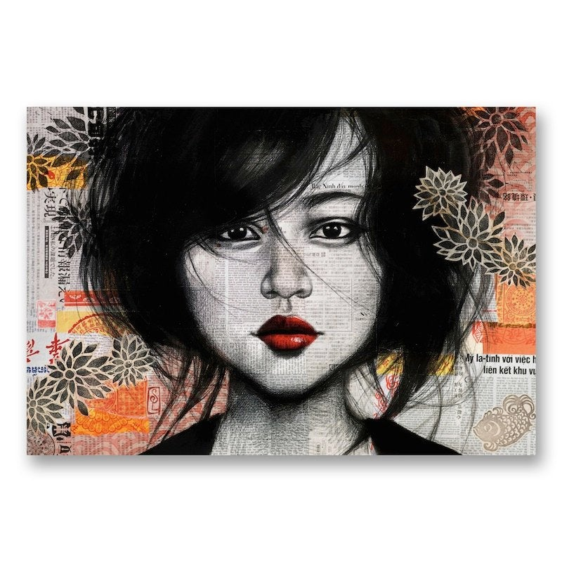 "Image of Canva Art Print - ""La fille de Soho"""