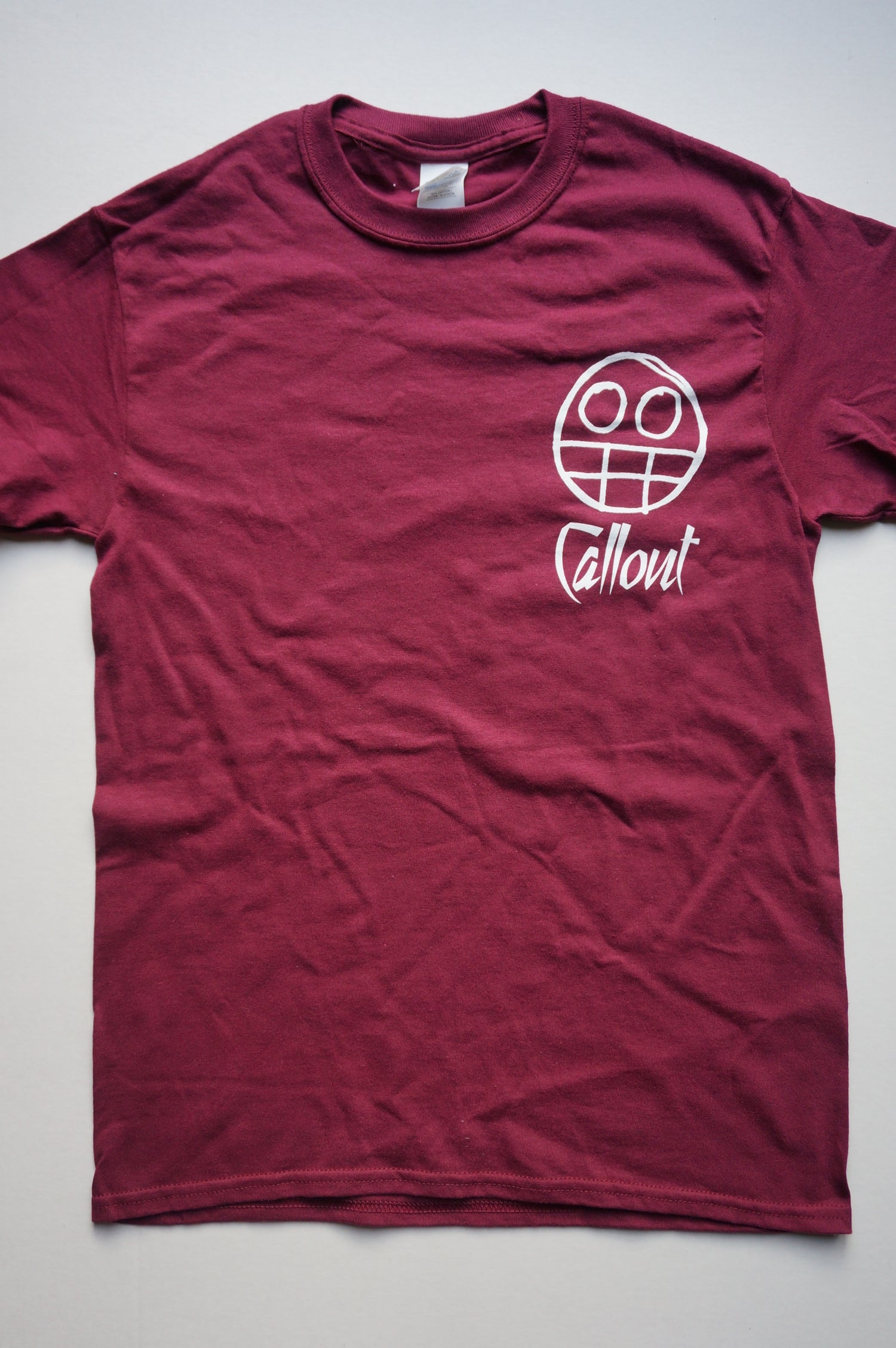 Image of Maroon Double Sided Callout T-Shirt