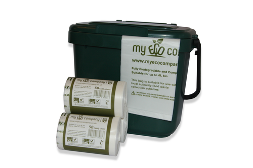 Image of 5 / 6 Litre Biodegradable & Compostable Food Waste Bin Bags - 200 Caddy Liners