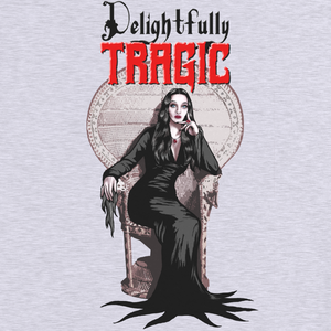 "Image of Morticia Addams ""Delightfully Tragic"" Women's Tee"