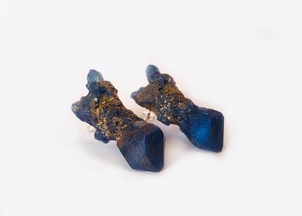 Image of CELESTIAL STUD EARRINGS - Starry Night