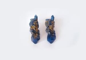 Image of CELESTIAL STUD EARRINGS - Starry Night