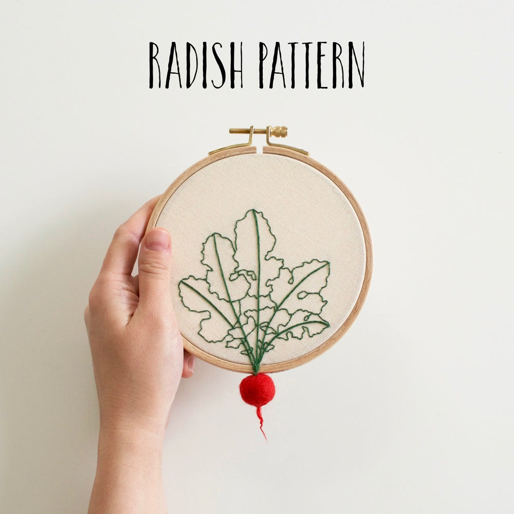 Image of RADISH EMBROIDERY PATTERN