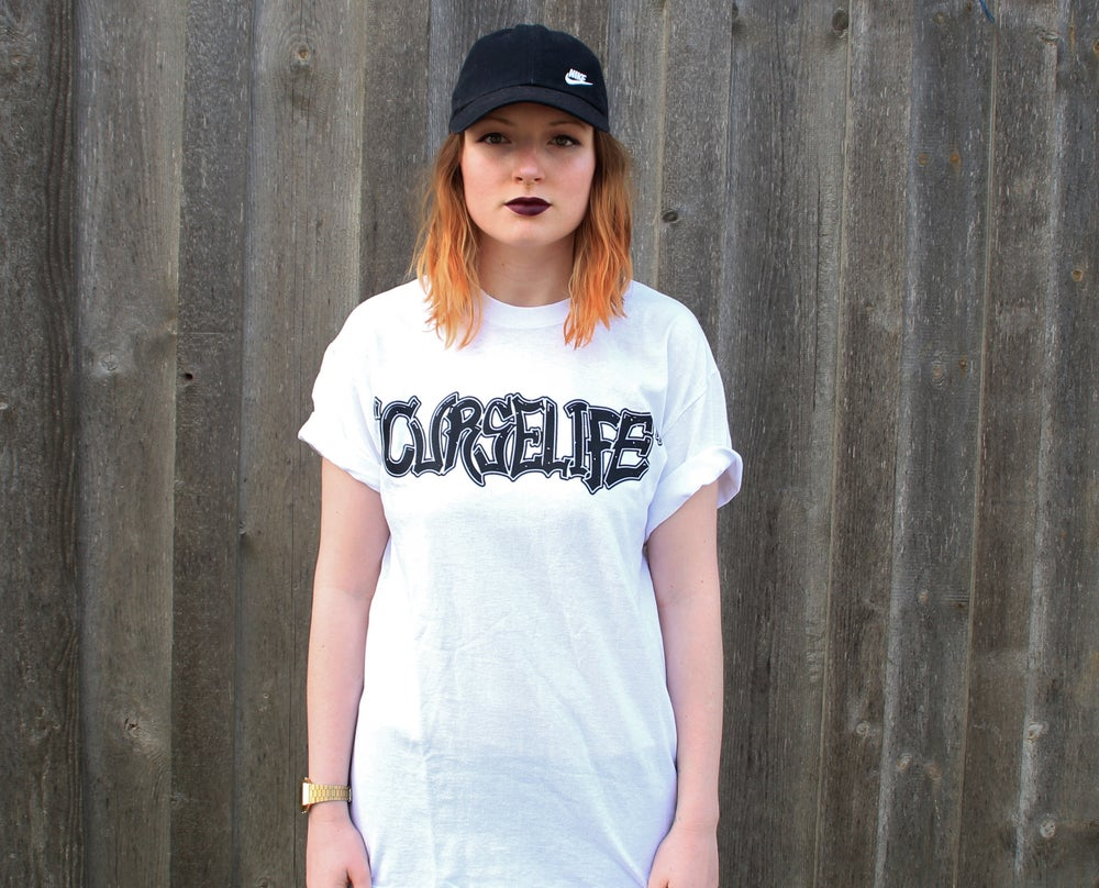 Image of CURSELIFE Logo Shirt White