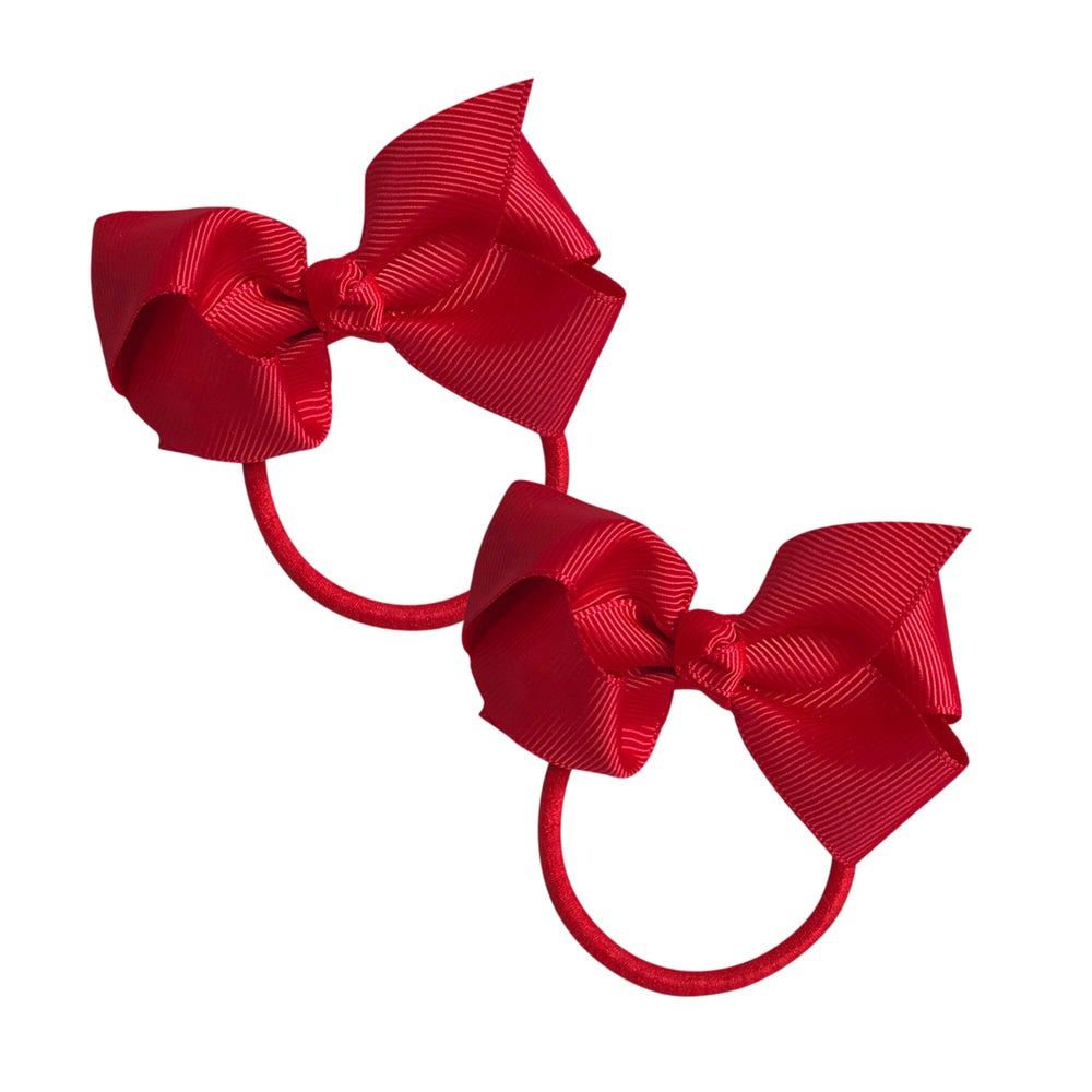Image of Valentine Bow Hair Tie 2 Pack