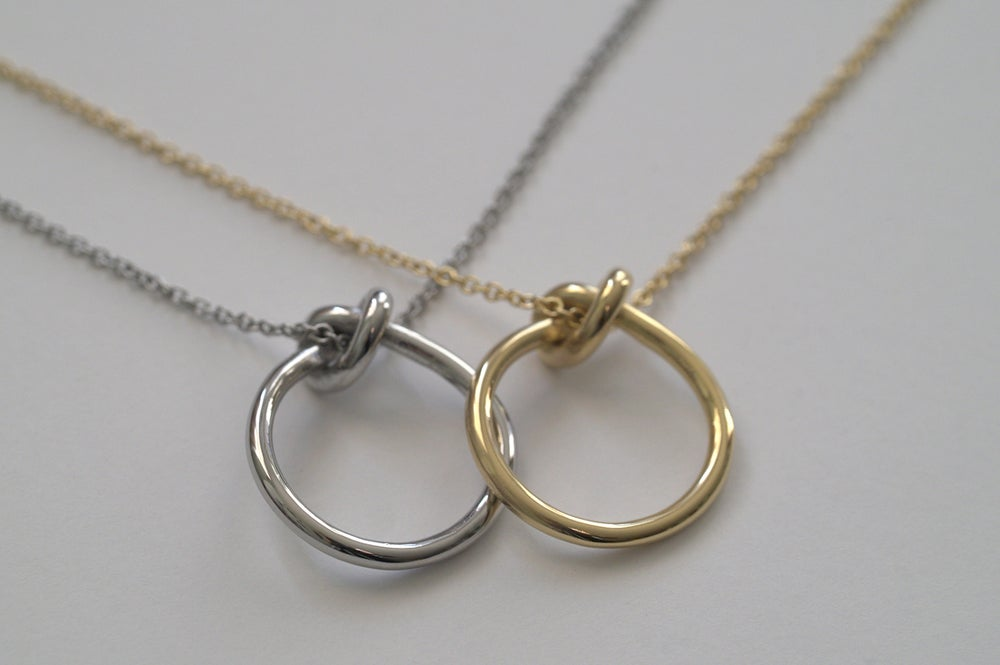 j hot and necklace nail ring circle with circles titanium double two connect small wholesale gold product big steel pendant rings sale