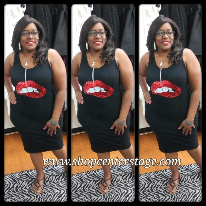 Image of Kiss me tank dress