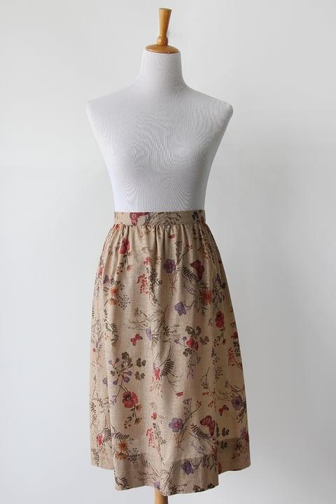 Image of SOLD Antique Botanical Book Skirt
