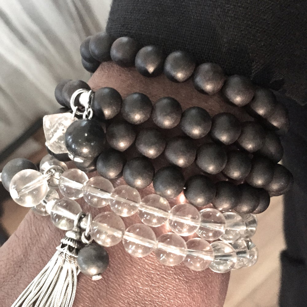 Image of Moon Triple Wrap Wrist Mala