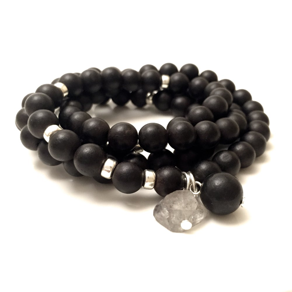 Image of New! Moon Triple Wrap Wrist Mala