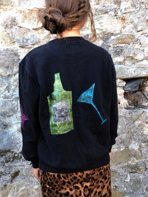 Image of Snake Eyes, Hand-painted Sweatshirt