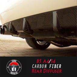 Image of Euro Impulse - B5 A4/S4 Carbon Fiber Rear Diffuser