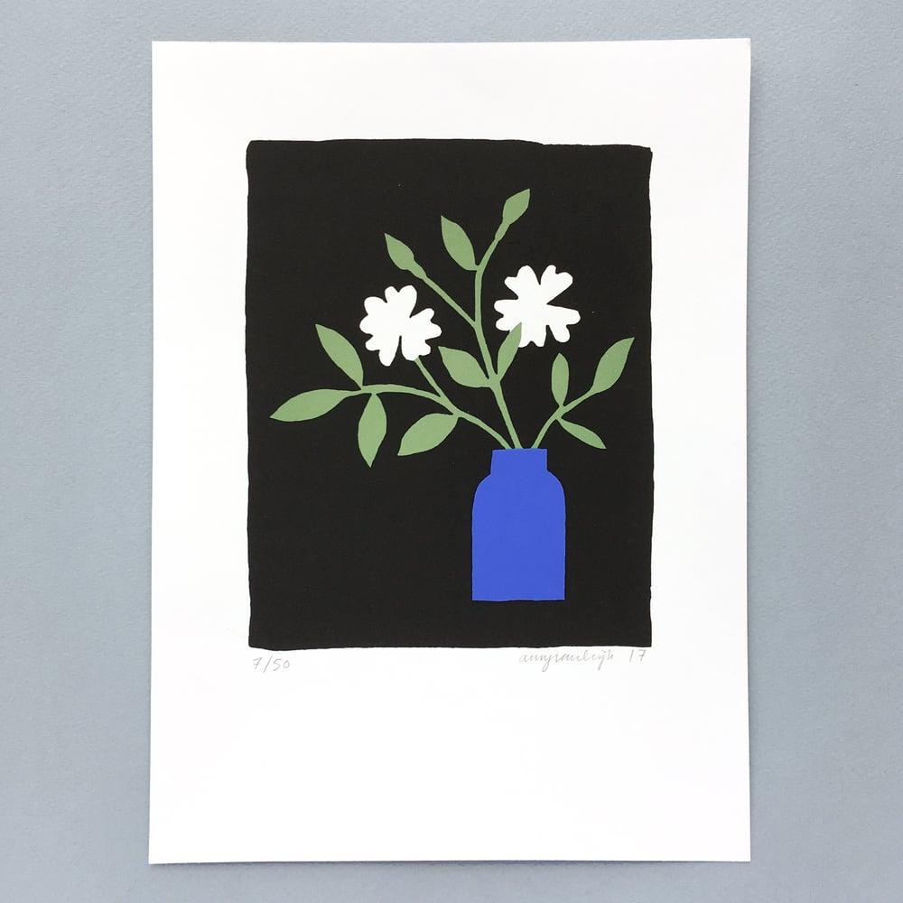Image of Blue vase - Screen print