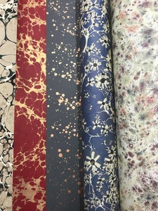 Image of Mixed 'Trial Order' // marbled, printed, splatter & metallic papers