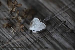 Image of fern heart locket
