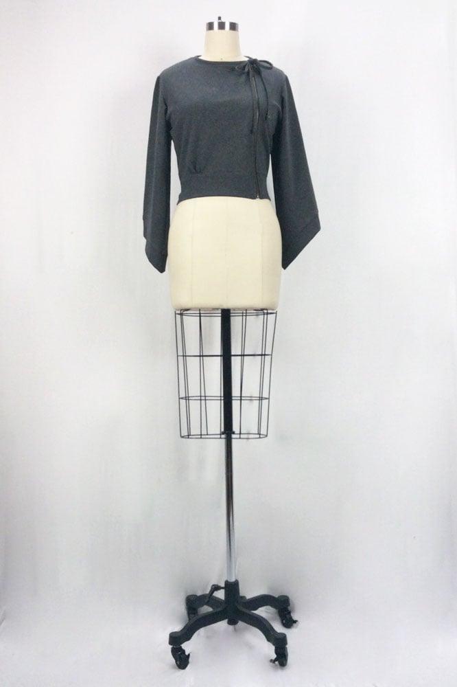 Image of Willamina Zip Jacket (Gray)