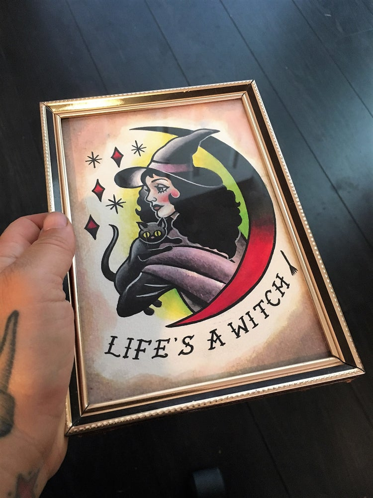 Image of Original Paintings - Life's a Witch