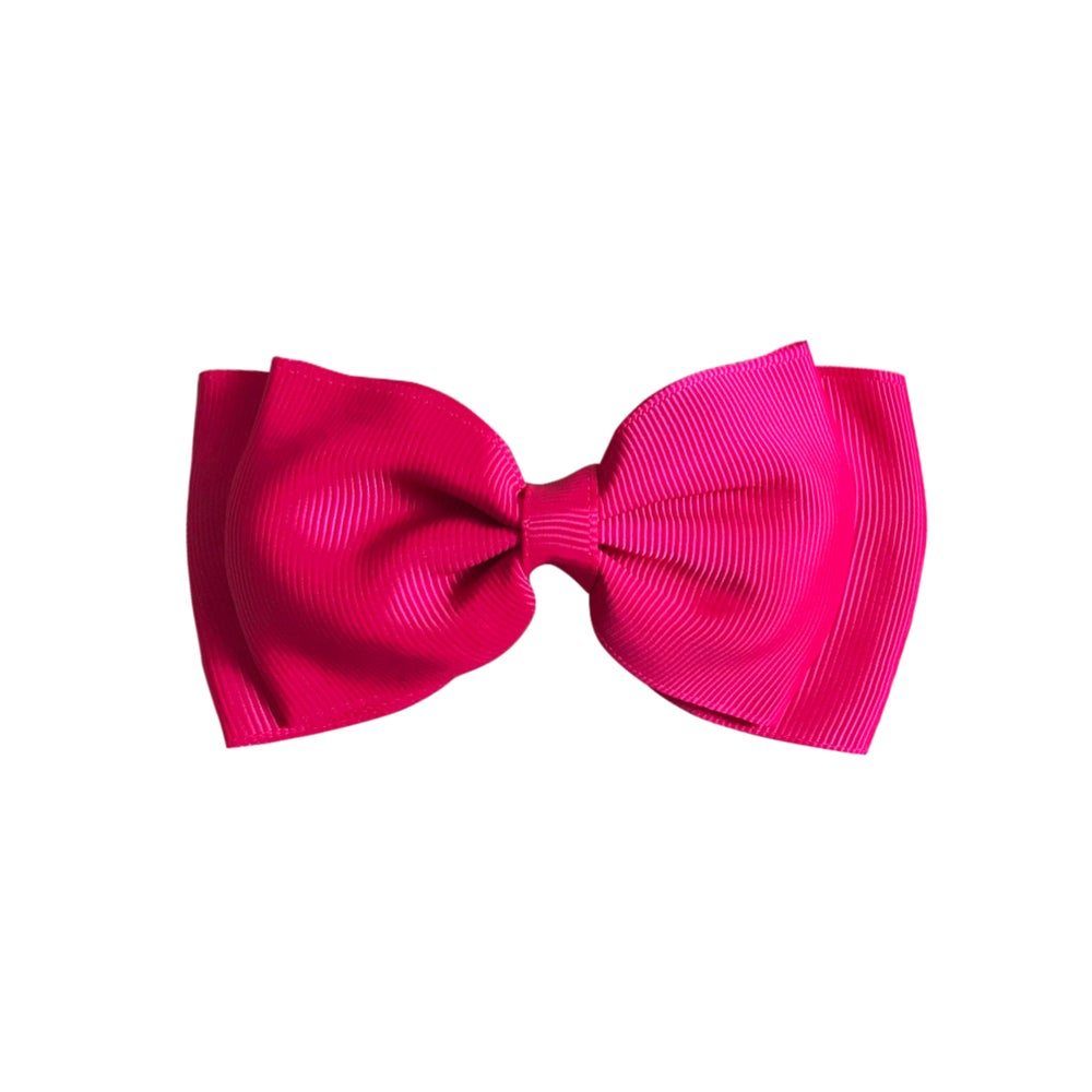 Image of Neon Pink Flat Bow