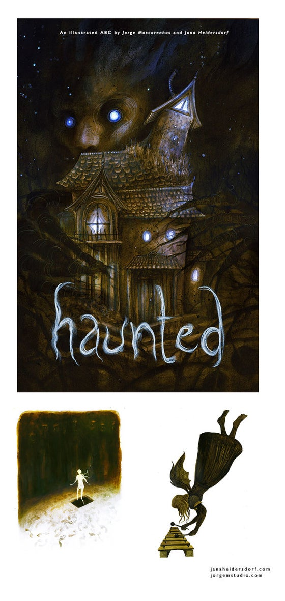 "Image of ""Haunted"" - An ABC illustrated by Jorge Mascarenhas and Jana Heidersdorf"