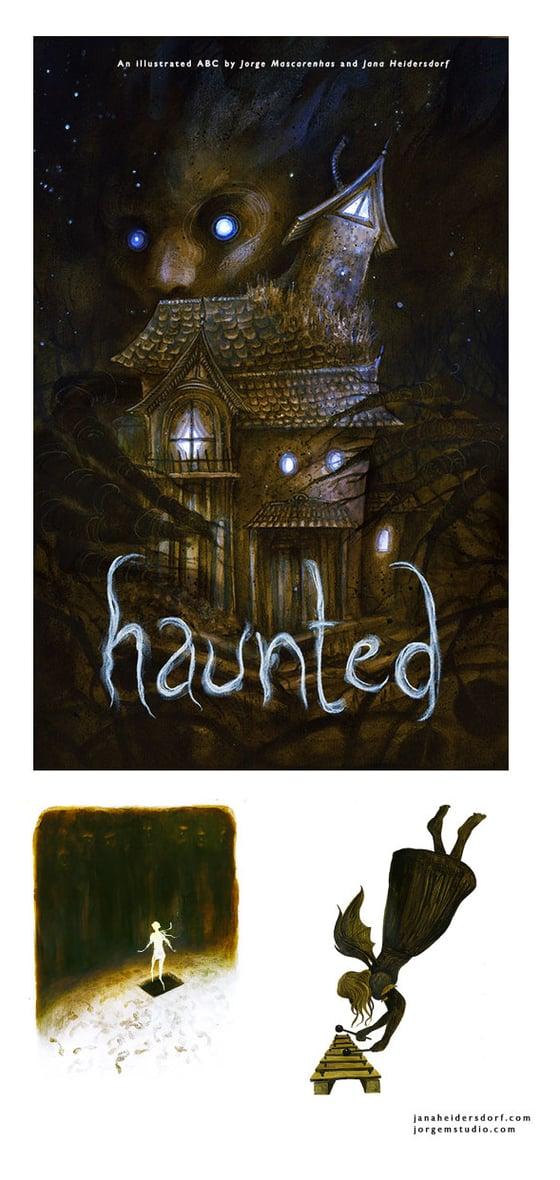 "Image of ""Haunted"" - An ABC illustrated by Jorge Mascarenhas and Jana Heidersdorf"