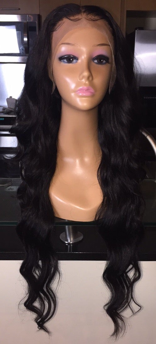 "Image of Indian Natural Wave 28"" Custom Lace Frontal Wig!"