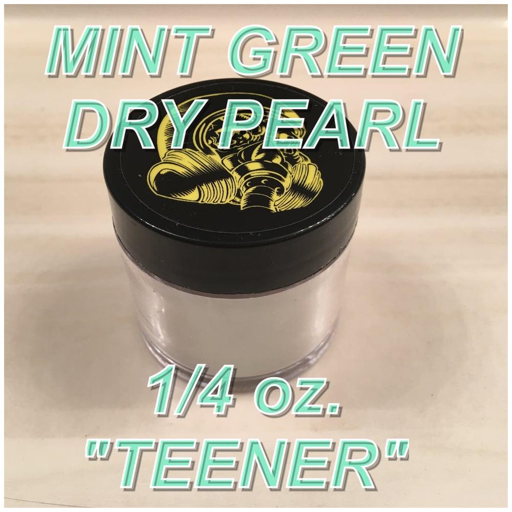 "Image of MINT GREEN -DRY PEARL 1/4 oz. ""TEENER"""