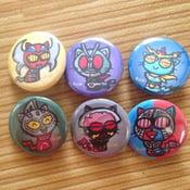 Image of Tokusatsu Kitty Buttons #2