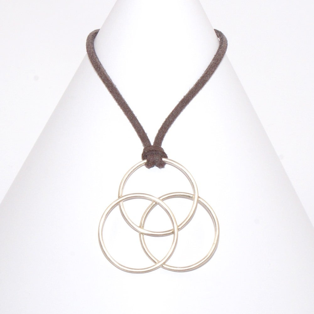 Image of Unity Large Pendant on Faux Suede
