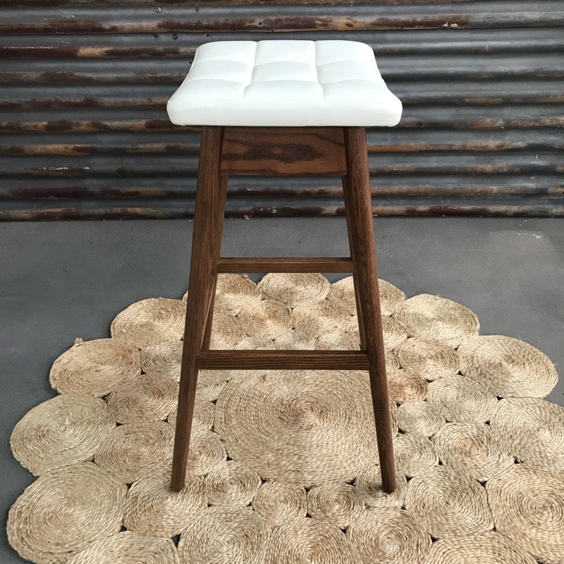 Image of TH Brown Martelle Bar Stool ~ Dark Ash Timber ~